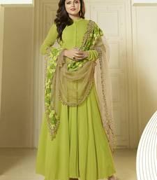 Buy Green embroidered georgette salwar with dupatta wedding-season-sale online