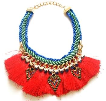Matador Tango  thread and crystals Necklace