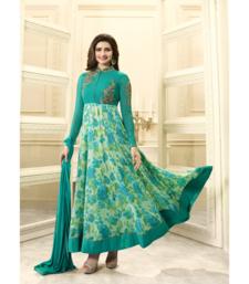 Buy Green embroidered georgette salwar with dupatta black-friday-deal-sale online