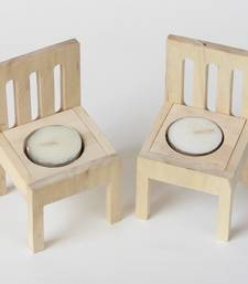 Buy Wooden quirky Chair Tea light candles - set of 2 candle online