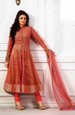 Dual tone designer party wear salwar kameez attire by madhubala