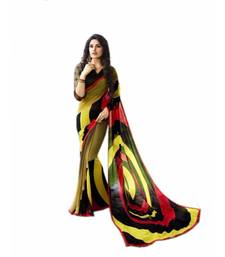 Buy Multicolor printed georgette saree with blouse fancy-saree online