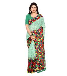 Buy Multicolor printed georgette saree with blouse multicolor-saree online