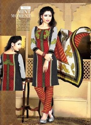 Radiant Multi Color Printed Crepe Unstitched Dress Material D.No T27007