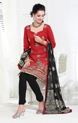 red Exclusive Suits with matching duppata