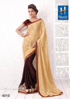 half & half designer saree 4010.