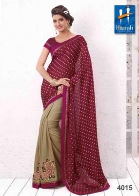 half & half designer saree 4015.