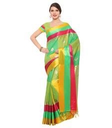 Buy Multicolor woven katan silk saree with blouse south-indian-saree online