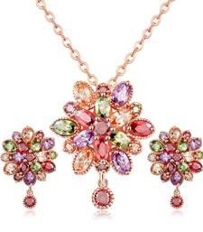 Buy Multicolor cubic zirconia pendants Pendant online