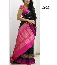Buy Pink printed silk saree with blouse art-silk-saree online