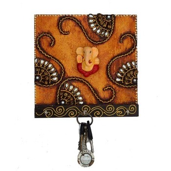 Papier-Mache Splendid  Lord Ganesha Key Holder
