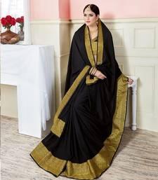 Buy Black woven art_silk_sarees saree with blouse art-silk-saree online