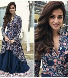 Buy Blue printed silk salwar salwar-kameez online