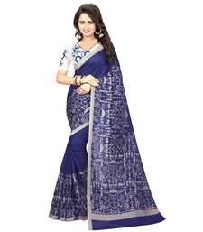Buy Blue printed kalamkari saree with blouse black-friday-deal-sale online