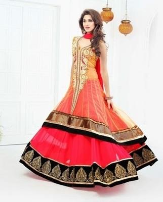 Heavy floor length party wear salwar kameez