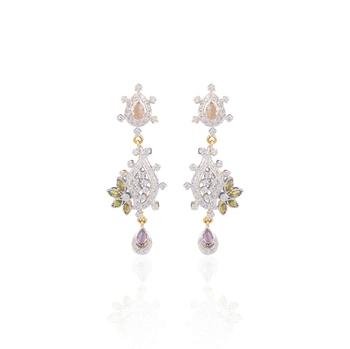 Iconic american diamond earrings