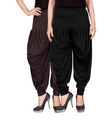 Buy Brown black stirped combo pack of 2 free size harem pants harem-pant online