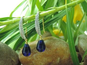 Fashio0ble Blue Tiny AD Earring
