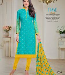 Buy Light blue embroidered jacquard salwar with dupatta salwar-kameez online