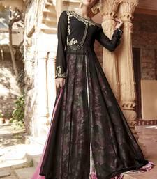 Buy Multicolor embroidered satin unstitched lehenga pakistani-lehenga online