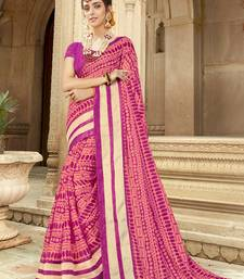 Buy Pink printed silk saree with blouse kota-silk-saree online