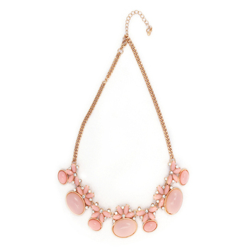 Pink Color Fashion-forward Necklace