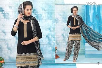 Designer Black In Patiala Style Latest Dress
