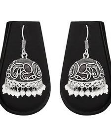 Buy Silver emerald earrings Earring online