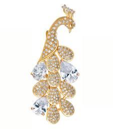Buy Gold crystal brooch brooch online