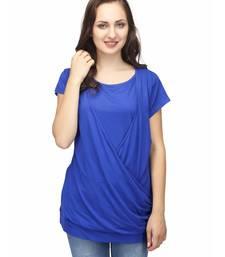 Buy Blue Color Overlap Casual Top top online