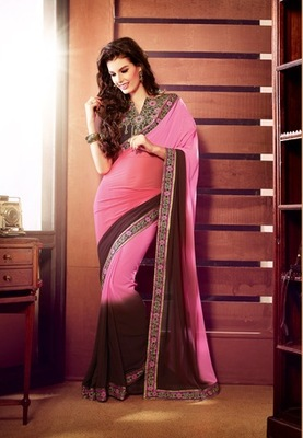 Style Multi Art Silk embroidered saree.