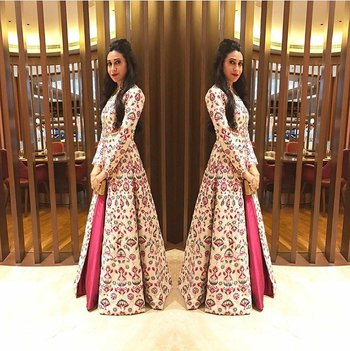 Pink plain banglori silk semi stitched indo western