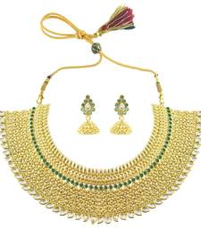 Buy Gorgeous Choker Necklace Set For Ladies necklace-set online