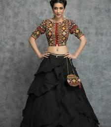 Buy Black art_silk embroidered lehenga ghagra-choli online