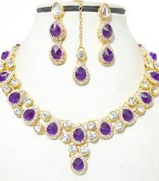 Buy Purple diamond necklace-sets necklace-set online