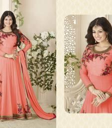 Buy Orange embroidered georgette salwar bollywood-salwar-kameez-online online
