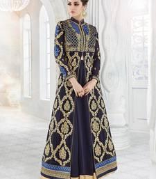 Buy Blue embroidered georgette salwar wedding-salwar-kameez online
