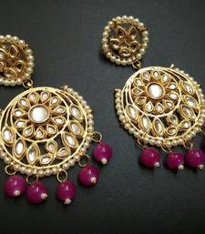 Buy Pink pearl earrings Earring online
