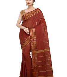 Buy Red woven cotton saree  traditional-saree online