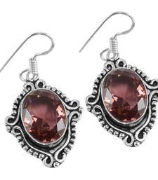 Buy Maroon quartz  earrings Earring online