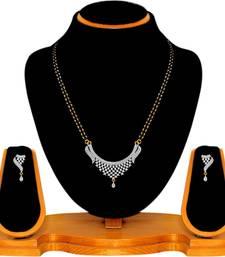Buy Silver zircon mangalsutra diwali-jewellery online