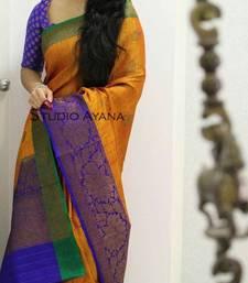 Buy Multicolor printed banarasi silk saree with blouse banarasi-silk-saree online