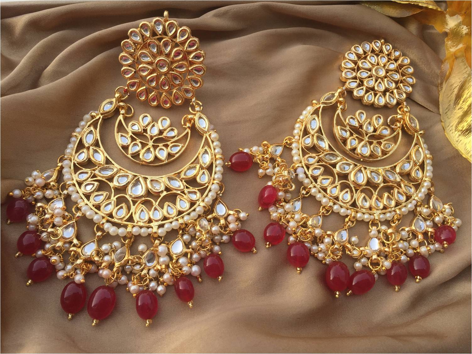 Latest indian earrings necklace earring set ii latest for Online designs