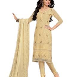 Buy Latest Outstanding Designer Cream Karachi Work Dress Material salwars-and-churidar online