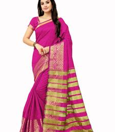 Buy Pink woven manipuri silk saree with blouse manipuri-silk-saree online