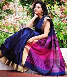 Buy Multicolor printed cotton silk saree with blouse cotton-silk-saree online
