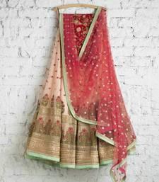 Buy Multicolor embroidered Georgette Semi stitched lehenga Choli lehenga-choli online