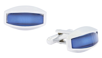 Blue Crystal Cufflink For Men