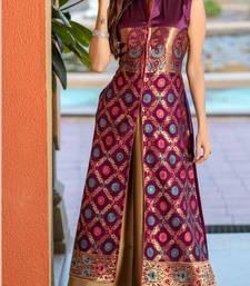 Buy Multicolor jacquard pure taffeta salwar wedding-salwar-kameez online