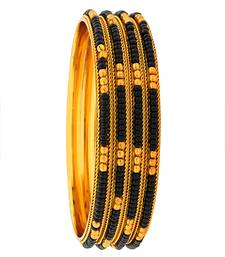Buy Black silver plated bangles and bracelets party-jewellery online